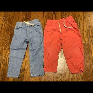 LIKE NEW Bundle of 2 Gap Cotton Light-Weight Pants